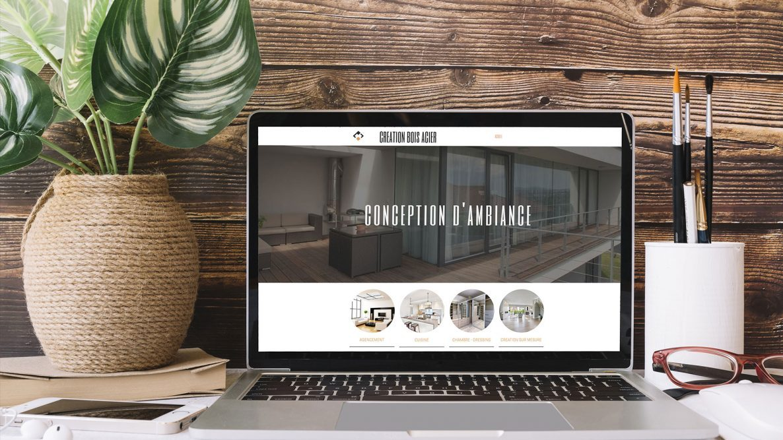 Création et lancement du site www.creation-bois-acier.fr